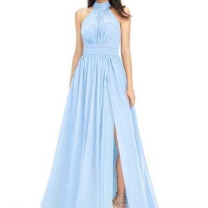 Azazie Iman dress in Sky Blue
